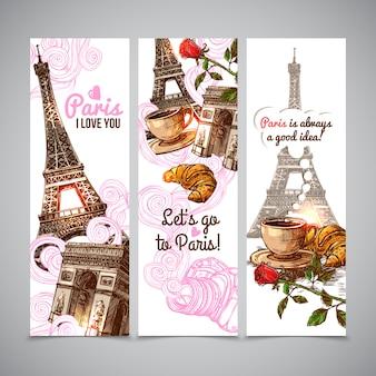 Bannières verticales de Paris