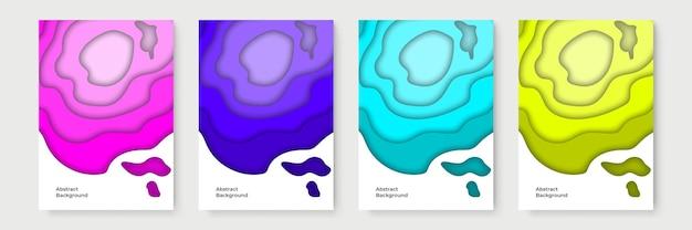 Bannières verticales avec fond abstrait 3d et formes découpées en papier. disposition de conception de vecteur pour des présentations d'affaires, des dépliants, des affiches et des invitations