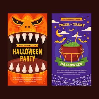 Bannières verticales d'halloween