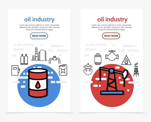 Bannières verticales de l'industrie pétrolière