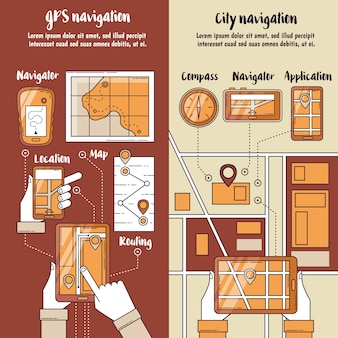 Bannières verticales de navigation