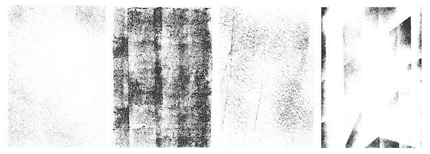 Bannières verticales rétro grunge blanc