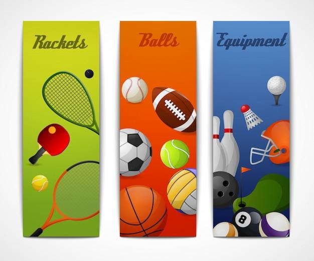 Bannières verticales de sport