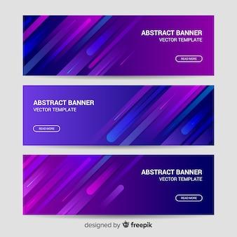 Bannières web abstraites