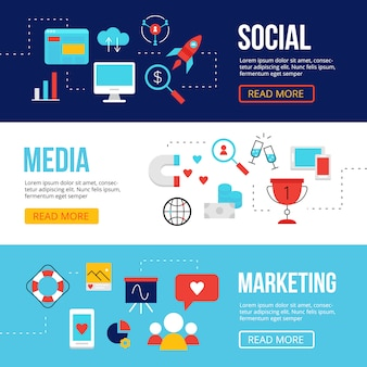 Bannières web de médias sociaux