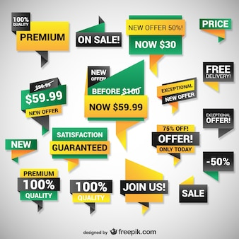 Bannières web à prix réduits