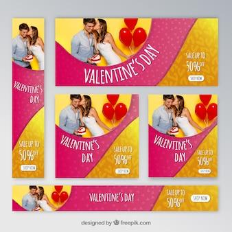 Bannières web saint valentin