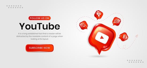 Bannières youtube sur les réseaux sociaux