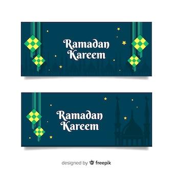 Bannners créatifs ramadan