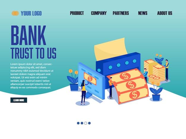 Banque landing page