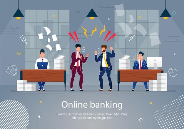 Banque en ligne concept vector illustration.