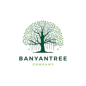 Banyan tree logo icon illustration