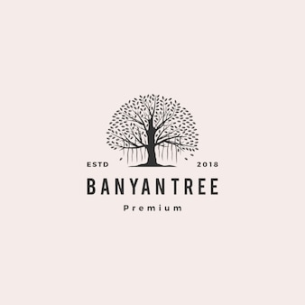Banyan tree logo vector icon illustration