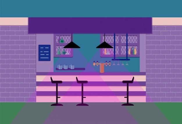 Bar comptoir dans un pub