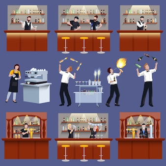 Bar icon set