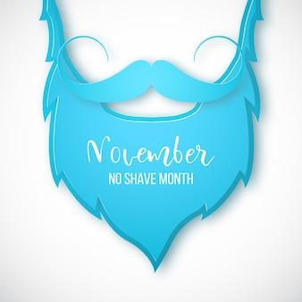 Barbe bleue et moustache dans un style art papier
