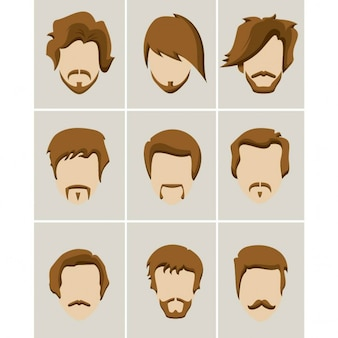 La barbe et les cheveux mustache