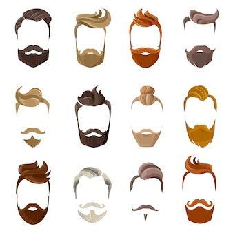 Barbe et coiffures visage ensemble
