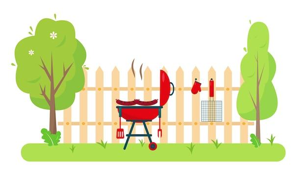 Barbecue dans le jardin ou dans le parc.