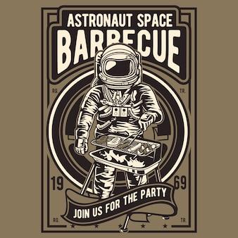 Barbecue d'espace astronaute