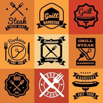 Barbecue fête vintage