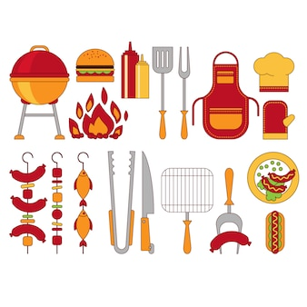 Barbecue grill illustratio
