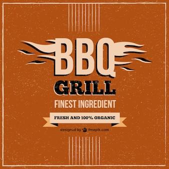 Barbecue menu du restaurant