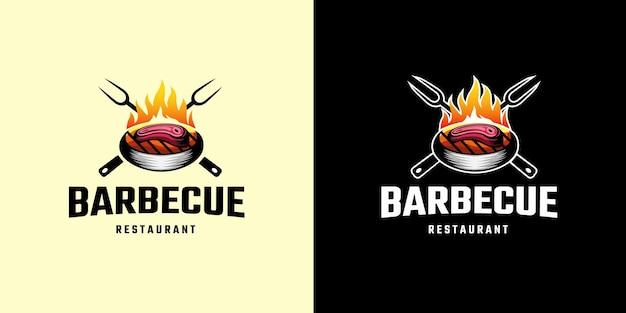 Barbecue le modèle de logo grill