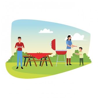 Barbecue et pique-nique en plein air