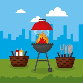 Barbecue en plein air
