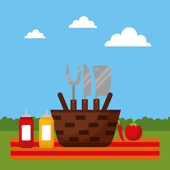 Barbecue en plein air
