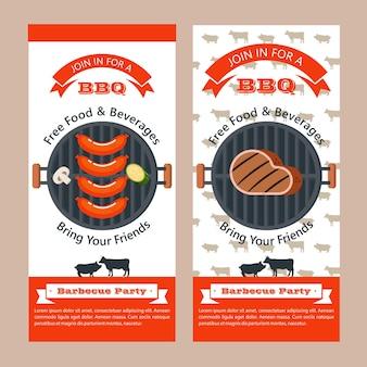 Barbecue de qualité supérieure. emblème de vecteur, logo. la tête d'une vache. fourchette et pelle de chef, grill. meilleur boeuf.
