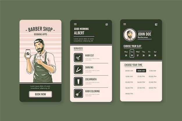 Barber shop booking now app