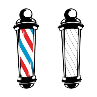 Barber shop pole stripes classique