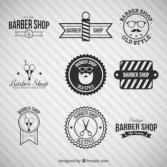 Barbier noir boutique logos