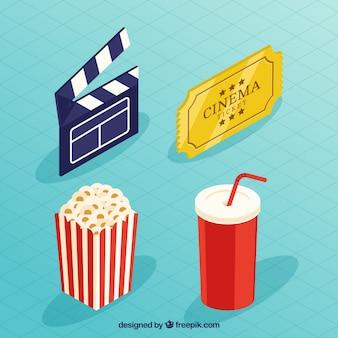 Bardeau et d'autres éléments de film dans la conception isométrique