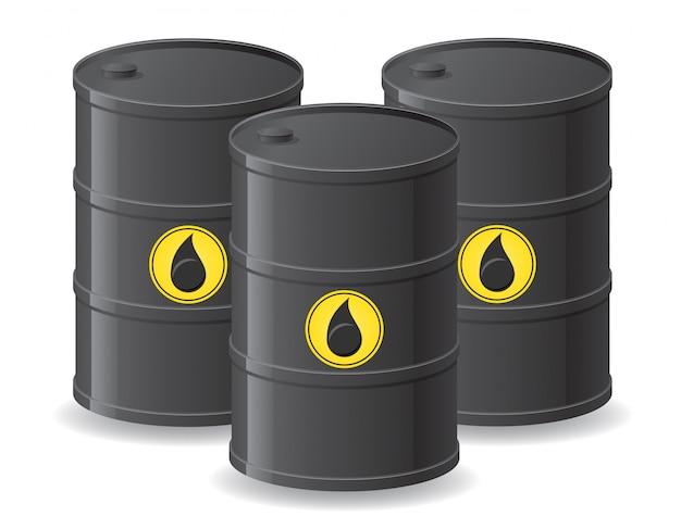 Barils noirs pour le pétrole