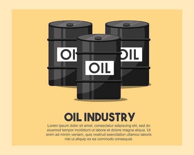 Barils de pétrole brut illustration vectorielle de pétrole