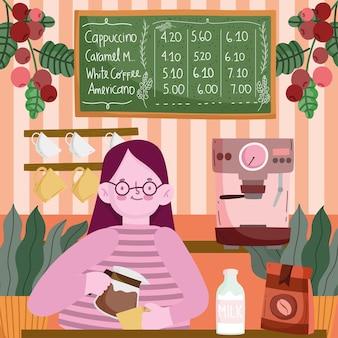 Barista dans un café