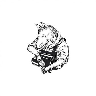 Barista d'illustration de cheval