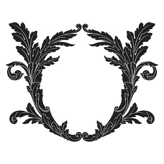 Baroque classique d'élément vintage. calligraphie en filigrane d'élément de design décoratif.