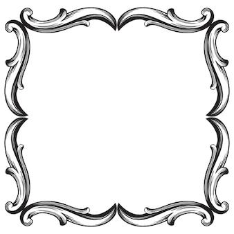 Baroque classique d'élément vintage pour la conception. élément de design décoratif calligraphie en filigrane.