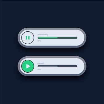 Barre de chargement de la progression de l'interface utilisateur
