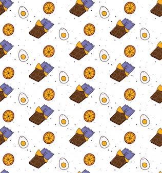 Barre de chocolat fond sans couture