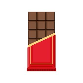 Barre De Chocolat Isolée Vecteur Premium