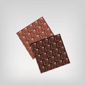 Barre de chocolat vecteur isolé design plat