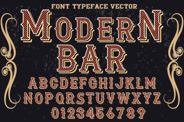 Barre de création de polices typographie effet ombre