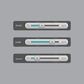 Barre de défilement de l'interface utilisateur