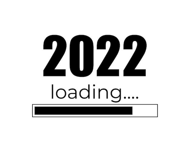 Barre de progression montrant le concept de chargement 2022