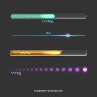 Barres de chargement colorées